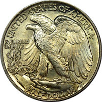 Walking Liberty Half Dollar Reverse