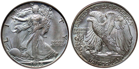 1938-D Walking Liberty Half